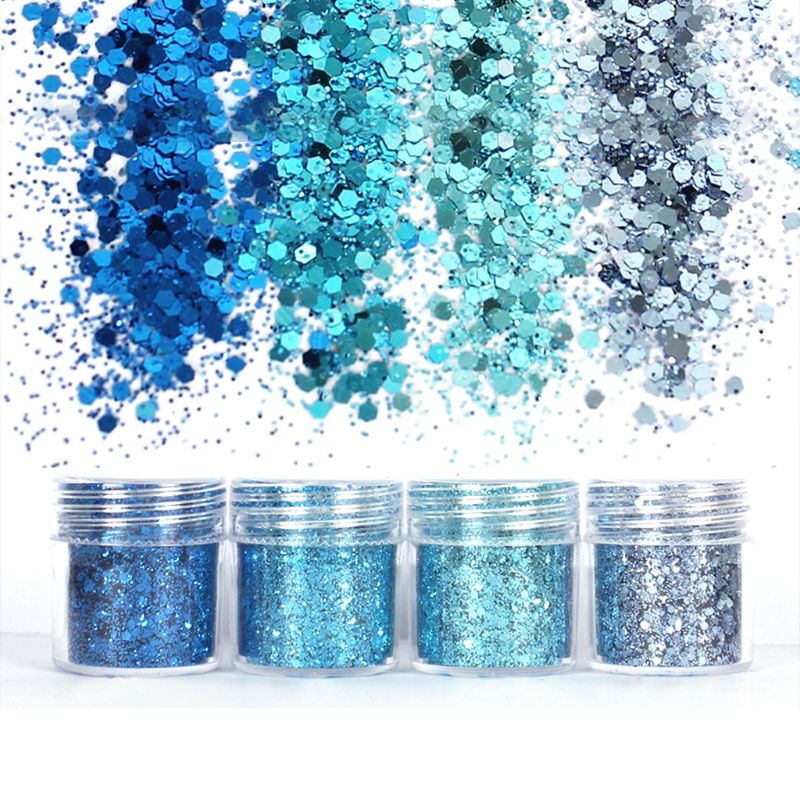 Colorful Gradient Glitter Powder Shiny Chunky Glitters For Resin Jewelry Making