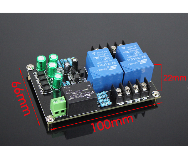 AC 220V Speaker Protection Board 30A Relay High power Delay start Board for Max 900W Amplifier Board