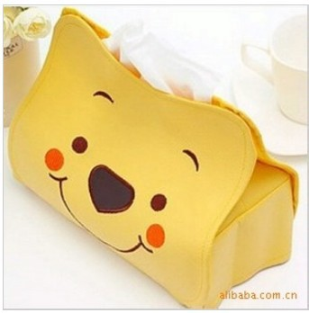 Lovely Bear Creative Paper Tissue Boxes holder push storage napkin font b box b font 30pcs