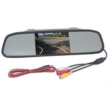 Alta Resolução 4.3 2CH Polegada HD Monitor Espelho Retrovisor Interior Do Carro de Entrada de Vídeo 800*480 DC 12 V