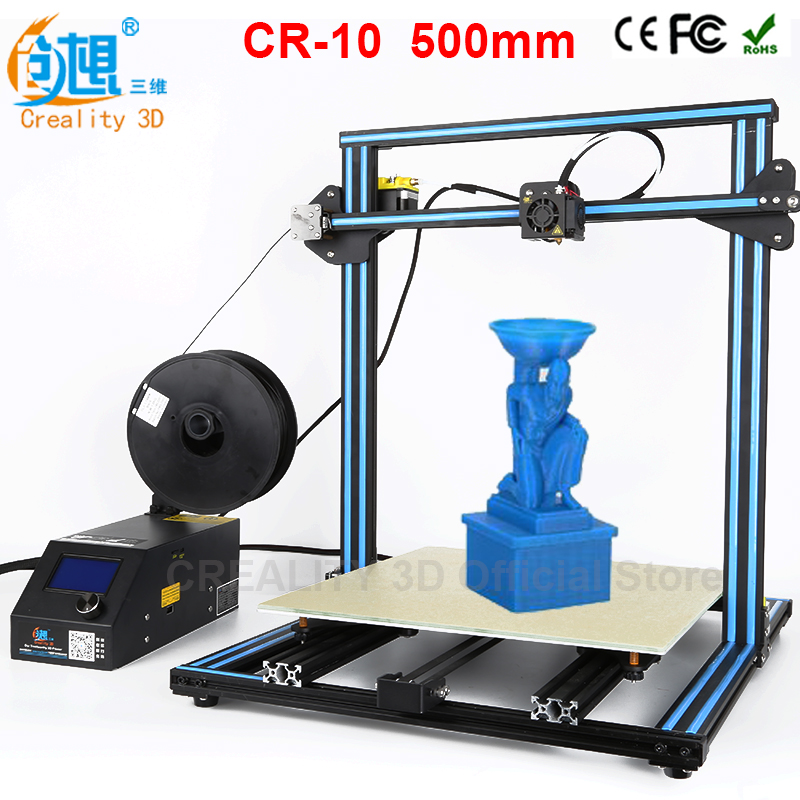 CREALITY 3D CR-10 Large Size 300*300*400mm Cheap 3D Printer DIY Kit With Aluminum Heated+Borosilicate Glass Plate+200g filaments metal frame linear guide rail for xzy axix high quality precision prusa i3 plus creality 3d cr 10 400 400 3d printer diy kit