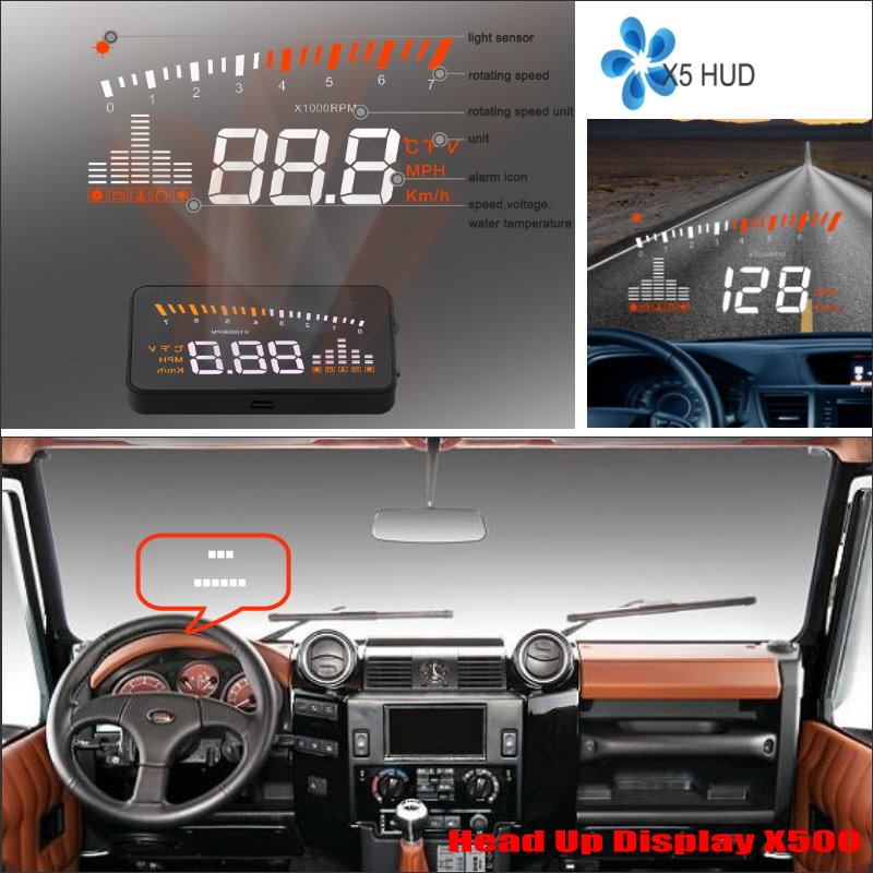 For Land Rover Defender / Discovery 2015-2016 Car Head Up Display Saft Driving Screen Projector - Refkecting Windshield