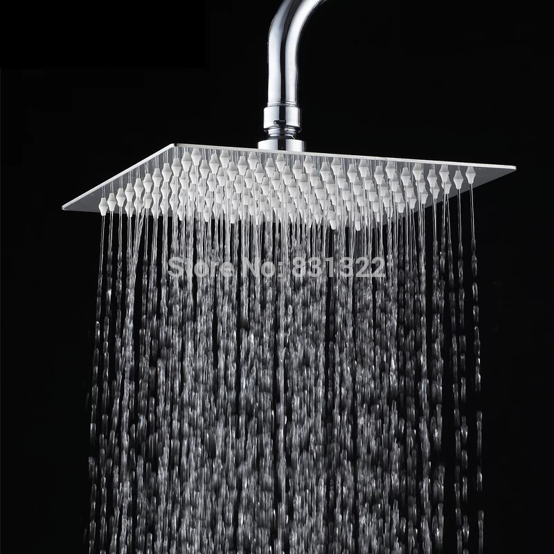 25cm Square Stainless Steel Ultra Thin Shower Heads 10 Rainfall Head
