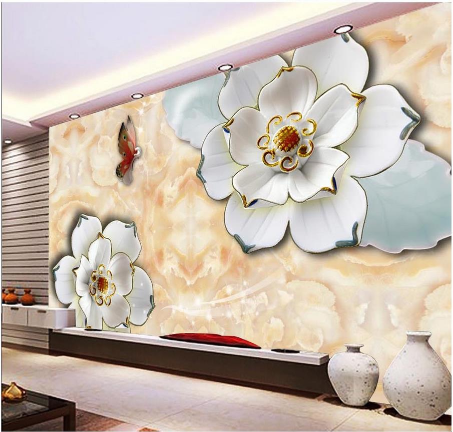 3d Wallpaper Home Decoration Window Mural Wallpaper Relief Flower Backdrop Wallpapers For Living Room