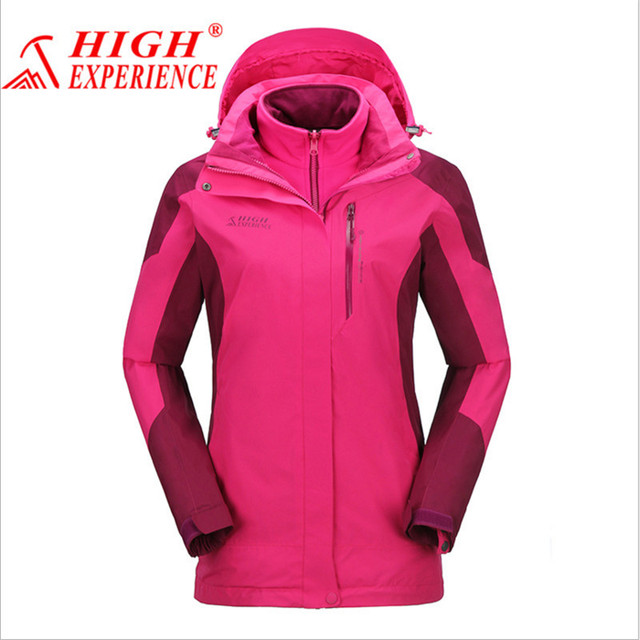fc8f3da48c HIGHT EXPERIENCENew Women Ski Jackets Winter Outdoor Warm Snow Jacket coat  Female Waterproof Snow jacket Ladies Breathable Sport