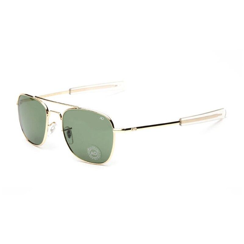 2018 New Fashion Army MILITARY AO Pilot  Sunglasses Brand American Optical Glass Lens Sun Glasses Oculos De Sol Masculino