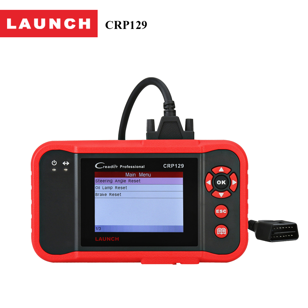Launch code reader Creader 129 Engine/ABS/AT/SAS tester Oil/Brake/SRS reset diagnostic tool Free udpate better than cro123