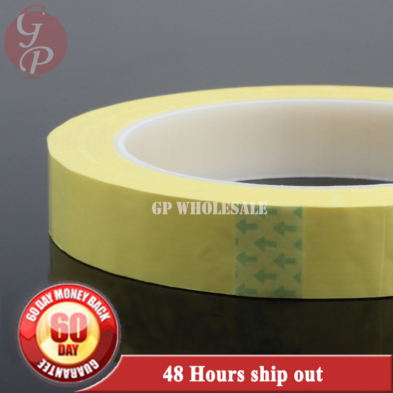 Free Shipping, 1x 90mm*66M*0.06mm Single Side Glued Isolating Mylar Tape for transformers, Fasten yellow 75mm 66m one side glued isolating mylar tape for motors fasten white