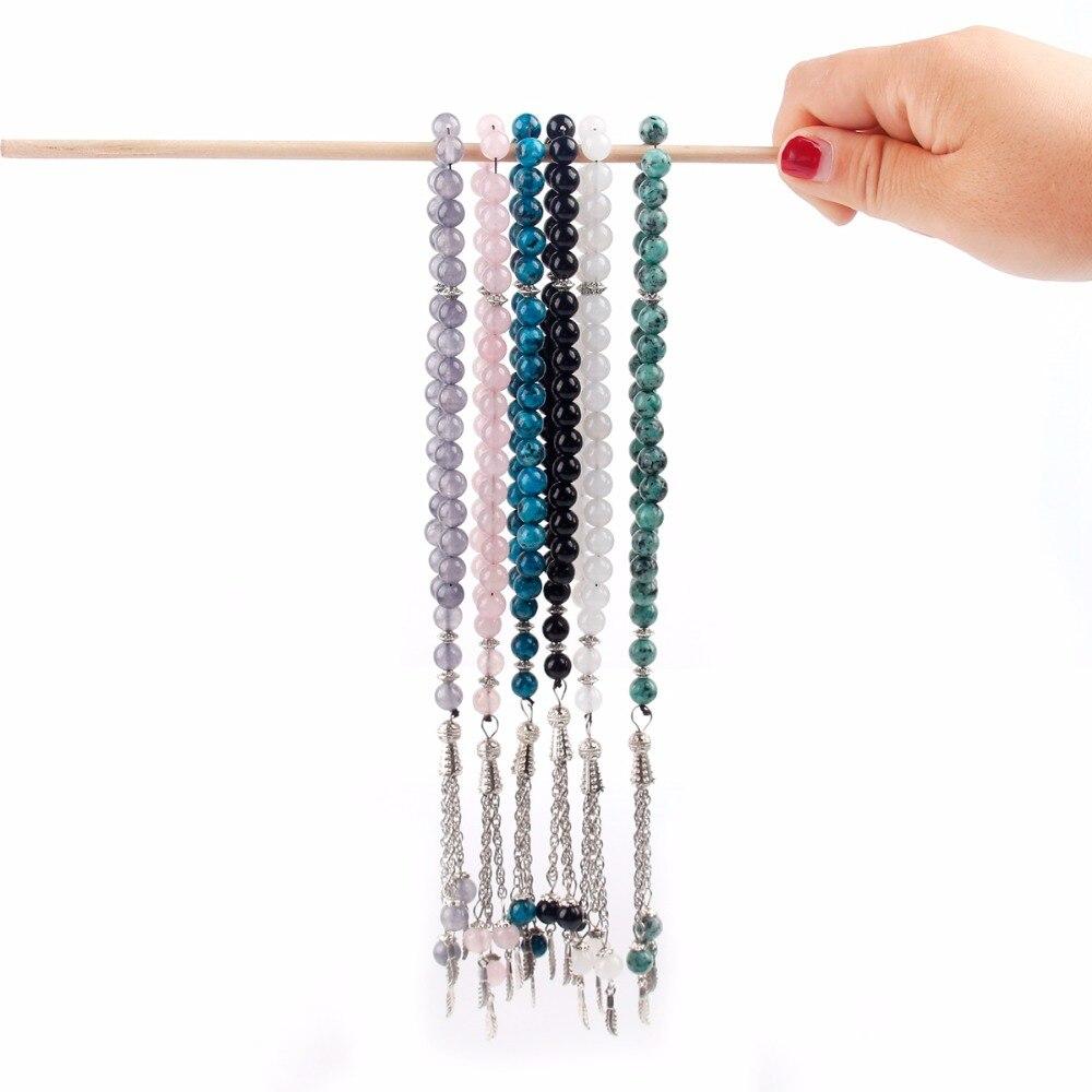FENGRISE Crystal Muslim Tasbih Ramadan Prayer Beads Bracelet Rope Chain Charm Misbaha EID Mubarak Ramadan Party Decoration in Party DIY Decorations from Home Garden