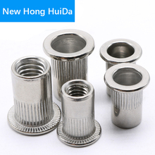 Rivet Nuts Rivetnut Flat Head Rivnut Insert nut Metric Threaded Nutsert Bolts M3 M4 M5 M6 M8 M10 M12 Stainless Steel 304SS metric thread m3 m4 m5 m6 m8 m10 m12 304 stainless steel blind insert rivet nut rivnut brand new