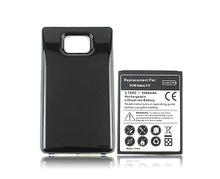 Replacement Extended Backup Thicker 3500MAH Battery with Back Cover For Samsung Galaxy S2 SII i9100 Black