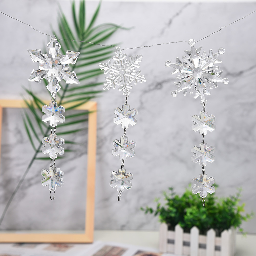 New Year Decorations DIY Acrylic Snowflake Christmas ...