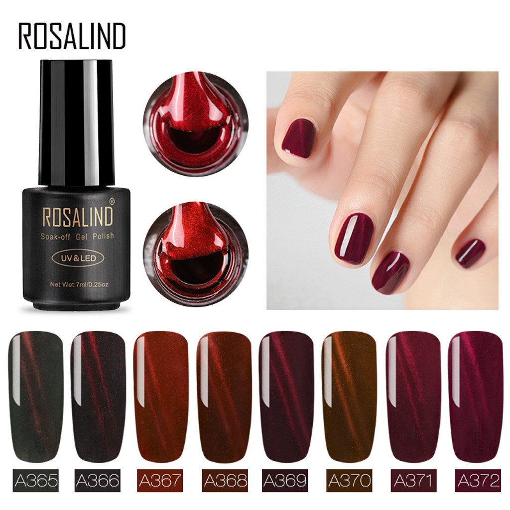 Cotton Candy Nail Polish 77: Wine Red 3D Top Coat Nail Cat Eye Gel Polish Gel Gradient