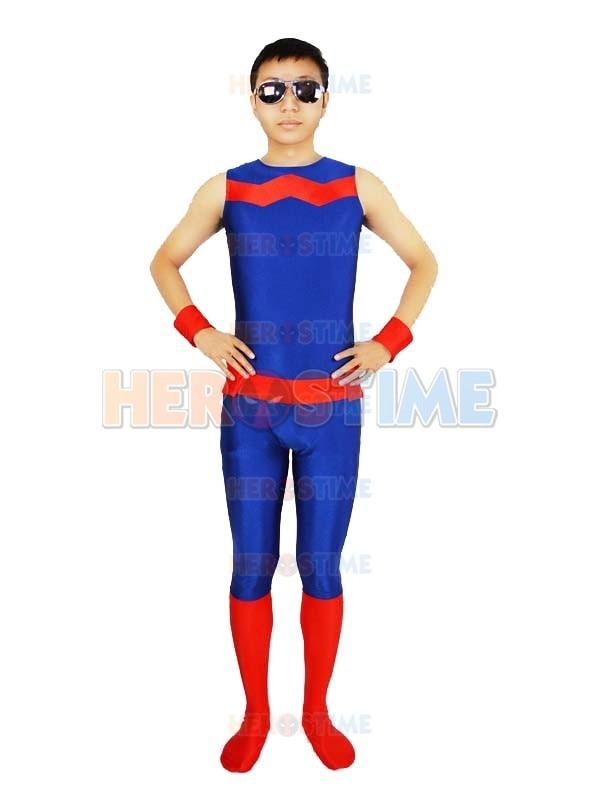 Marvel Comics Wonder Man Spandex Superhero Costume Zentai Halloween Cosplay Lycra Bodysuit