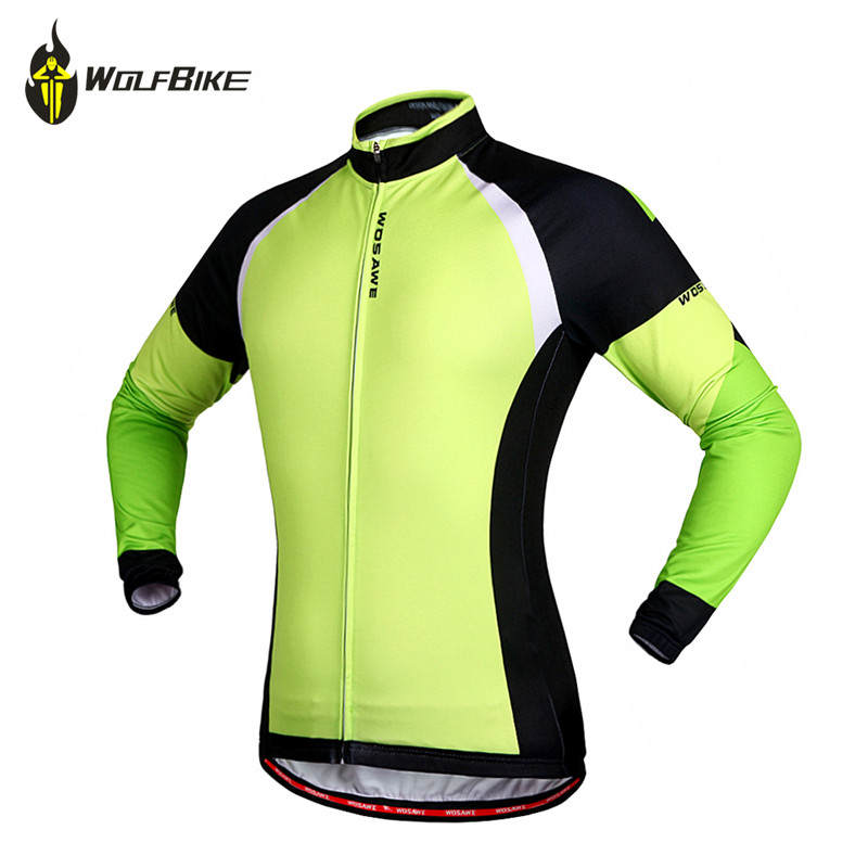 WOSAWE Thermal Cycling Jacket Winter Warm Up Bicycle Clothing Windproof Waterproof Soft shell Coat MTB Bike Jersey цена