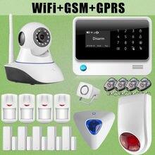 Cámara de Red G90B chuangkesafe WiFi Inalámbrica GSM Alarma Antirrobo Intruso Sirena de Destello Al Aire Libre