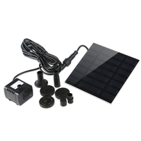 7V 1.2W 180L/H Solar Power Water Pump Aquarium Fountain Pool Garden Pond Submersible Pump (Black)