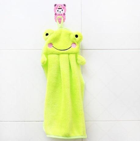Crianças de banho Toalha de Limpar Adorável Pato Dos Desenhos Animados Do  Berçário Sapo Panda Animal Pendurado Tecido de Pelúcia Macia Do Bebê da  Criança|Toalhas de mão| - AliExpress
