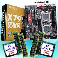 Скидка компьютерного оборудования HUANAN Чжи двойной X79 LGA2011 материнской платы с M.2 слот Процессор Intel Xeon E5 2697V2 2,7 ГГц Оперативная память 64G (4*16G)