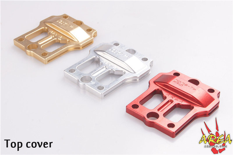 area rc front chassis brace v3 for losi 5ive tusa7075 t6 pro Area RC Splitting center diff bracket for Losi 5t USA 7075-T6 PRO( top cover)