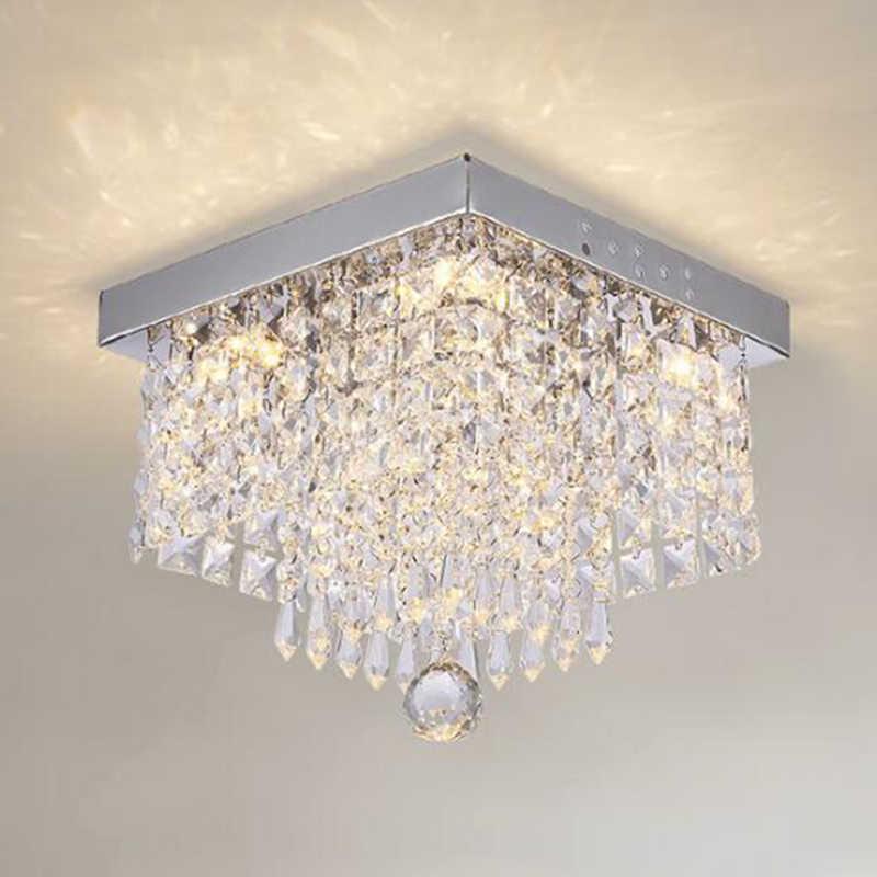 Manggic Kristal LED Lampu Langit-langit Persegi Lampu Langit-langit untuk Lorong Tangga Lampu Koridor Lampu Meja