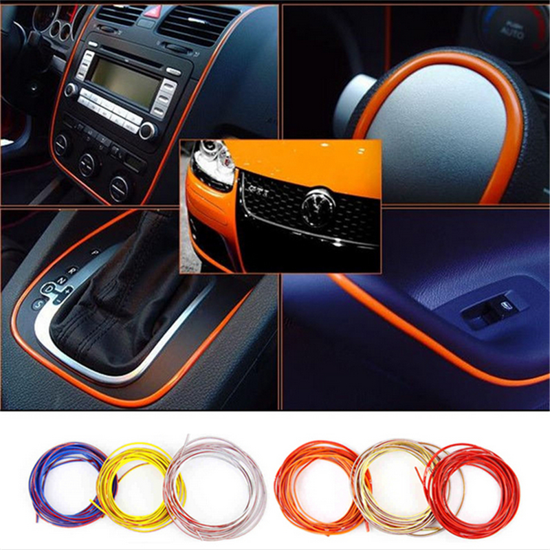 5 colors 5m lot car styling indoor car interior exterior body modify decal mouldings auto car. Black Bedroom Furniture Sets. Home Design Ideas
