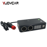 VJOYCAR C20T Specjalne chipset gps tracker, ukryte w ładowarka samochodowa + monitor voice recorder + akumulatora pojazdu sprawdzanie + 2 porty USB