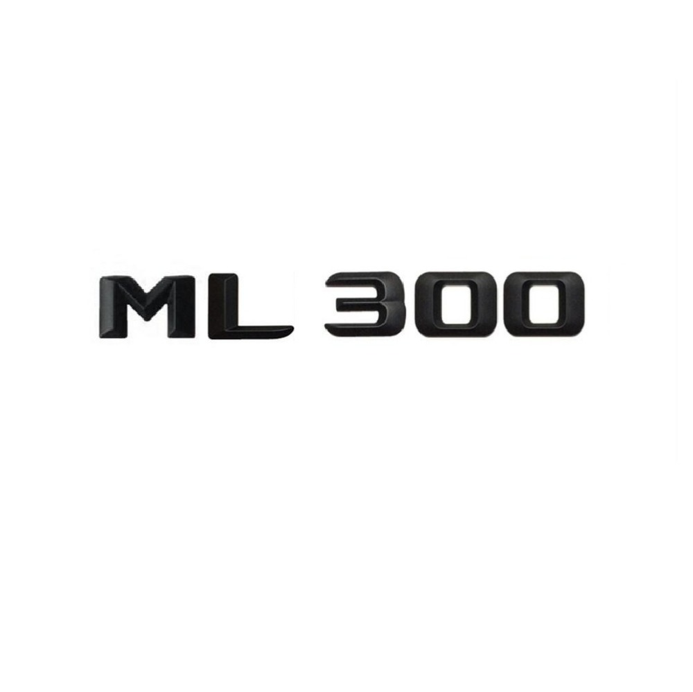 Matt Black  ML 300 Car Trunk Rear Letters Word Badge Emblem Letter Decal Sticker for Mercedes Benz Class ML300
