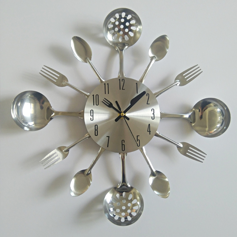 Watch Home Knife Needle-Clocks Decoration Separates Quartz Kitchen Metal Modern The Real title=