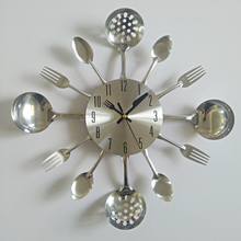 Reale orologio da parete in metallo coltello da cucina la decorazione al quarzo muto moderno separa Ago orologi orologio per la casa