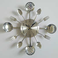 real metal wall clock knife kitchen the decoration quartz mute modern separates Needle clocks watch home