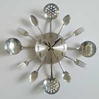 real metal wall clock knife kitchen the decoration quartz mute modern separates Needle clocks watch home