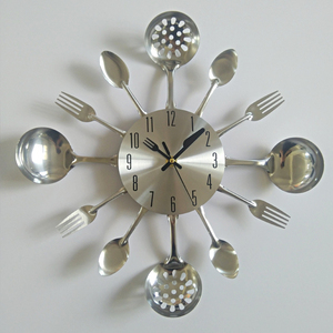 real metal wall clock knife ki