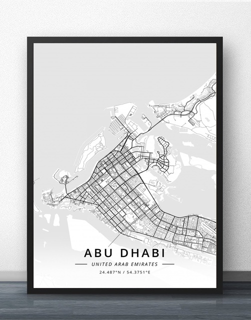 City Map Auckland Charlotte Chicago Boston Wall Art Paint Wall Decor Canvas  Prints Canvas Art Poster