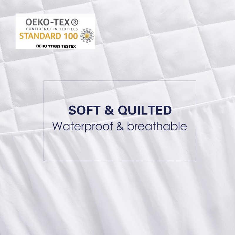 Покрывало матовая ткань стеганый наматрасник Водонепроницаемый наматрасник для кровати анти-клещ матраса copri rete letto