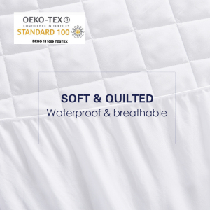Image 3 - Bed Cover Brushed Fabric Quilted Mattress Protector Waterproof Mattress Topper for Bed Anti mite Mattress Cover copri rete letto