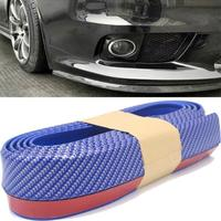 Vehemo 2.5M Universal Car Protector Front Bumper Lip Splitter Body Kit Bumpers Valance Chin Accessories Rubber Car styling