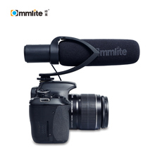 Commlite CoMica Electrit Super-Cardioid Directional Condenser Shotgun Video Microphone for Camera,Camcorder
