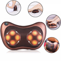 New Household Car Shiatsu Massage Pillow Device 8 Heads Electric Heating Cushion Neck Full Body Deep Relax Massager US EU Plug