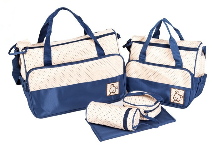 Promotion 5pcs Nappy Bags Cross body Multifunctional Mummy Bags Maternity Shoulder Diaper Bags