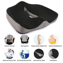 Hot Sale Chair Cushion Flexible Memory Sponge Buttock Cushion Bottom Seats Back Office Chair Orthopedic Seat Cushions Cojines