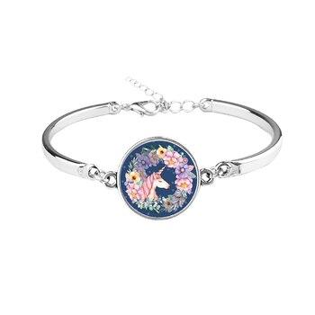 Unicorn Glass Charm Bracelet