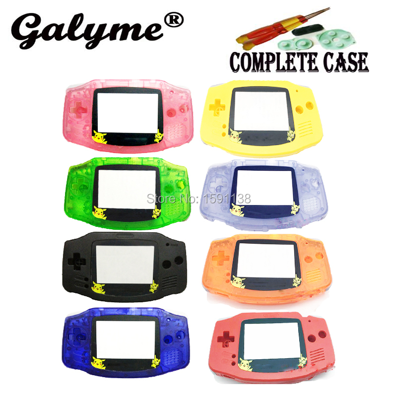 Hot Sale Limited Pocket Pika Limited Screen Lens Housing Shell Game Case Cover wLens Fit GameBoyAdvance Console Boy Advance
