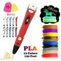 Dikale 3D Ручка для печати  новейшая версия  3D стилет  ручки для рисования  карандаш  не засоряющий бонусные трафареты  электронная книга для дет...