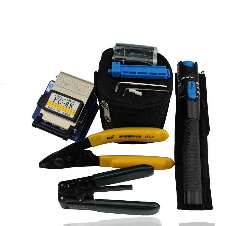 Волокно оптическое Инструменты с FC-6S оптический Волокно Кливер и лазерный тестер ручка VFL 1 МВт и кабель стриптизерш