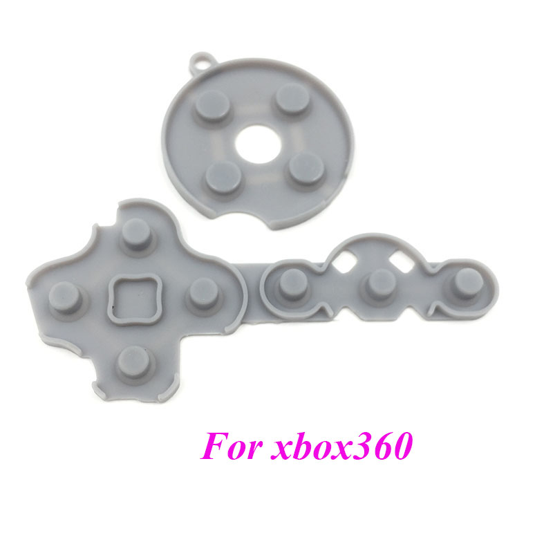 200sets Replacement Rubber Conductive D Pad Button Parts For Xbox 360 Controller ABXY Inner Rubber Button
