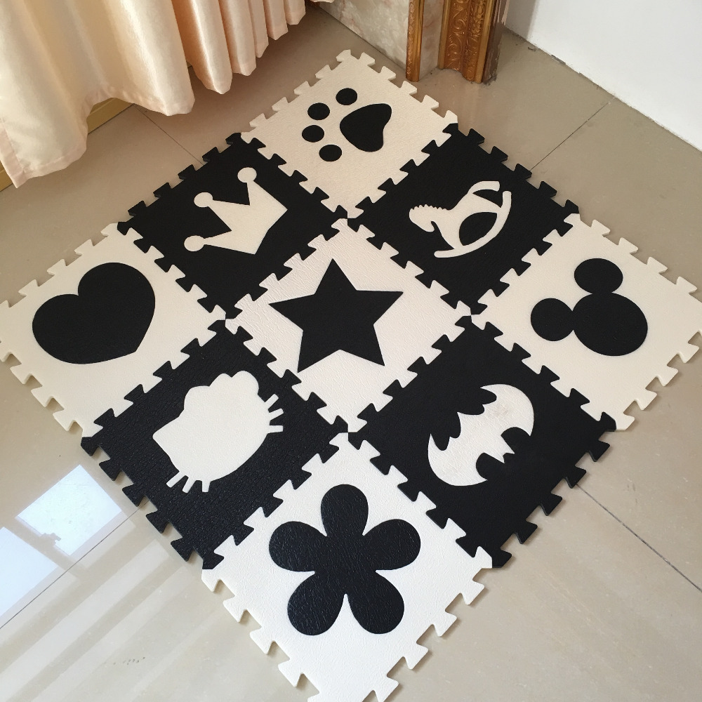 Gym Mats Non Toxic: XPE Foam Mat Puzzle Floor GYM Soft Kids Black White Non
