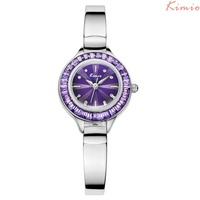 Kimio Brand Women S Wrist Watches Fashion Inlaid Crystal Rhinestone Ladies Watch Metal Watchband Not Waterproof