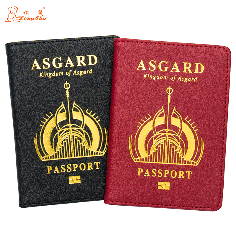 Russian Black Buckle Solid Color Casual Passport Cover Built In Rfid Blocking Protect Personal Information Coin Purses & Holders
