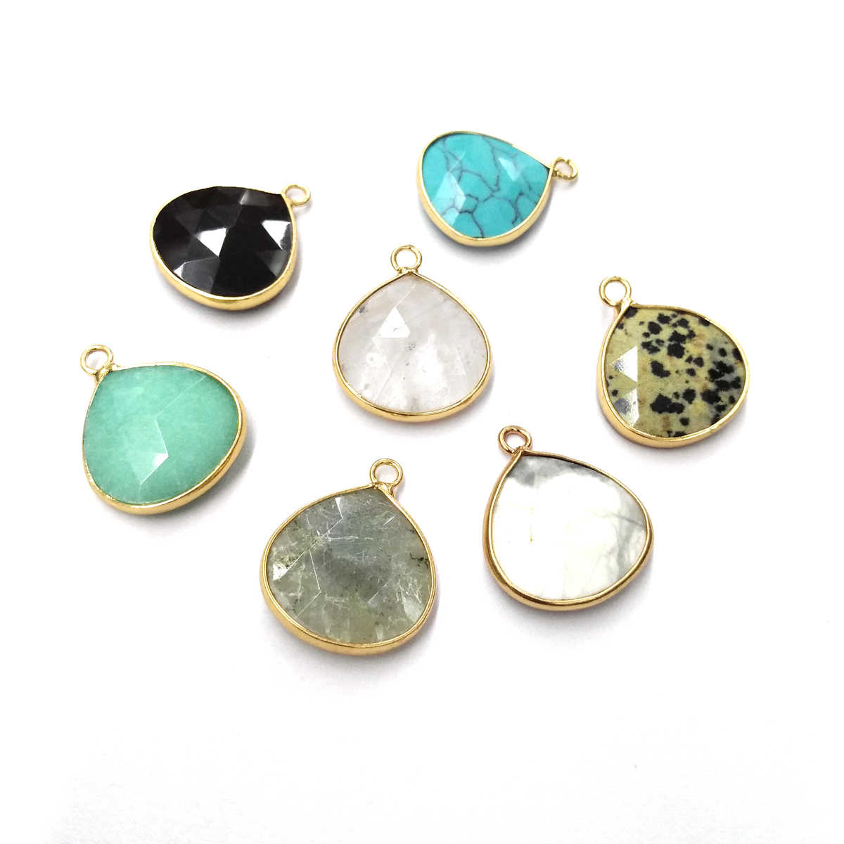 Natural Stone Agates Pendant Charms Pendants for Jewelry Making DIY Necklace Size 20x24 mm